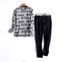 Пижамы для мужчин с длинными рукавами осенние и зимние мягкие фланелевые пижамы утепленные штаны пуловер Для мужчин Lounge сна пижамный комплект