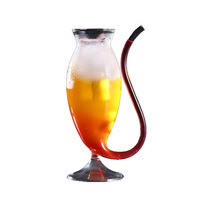 Cool Sobering Glass cup,Creative 300ml Heat Resistant Glass wine Beer coffee Juice Dinkware Home office Bar Party Special gifts