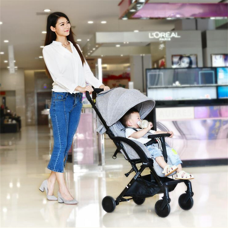 все цены на Luxury Portable Lightweight Baby Stroller 3 In 1 Umbrella Fold Baby Carriage Pram Pushchairs For Newborn Kinderwagen в интернете