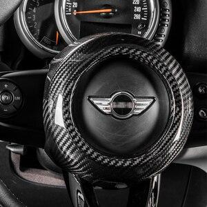 Image 1 - carbon fiber Modification Accessories Steering wheel center decoration car styling For MINI COOPER Clubman S F54 F55 F56 F57 F60