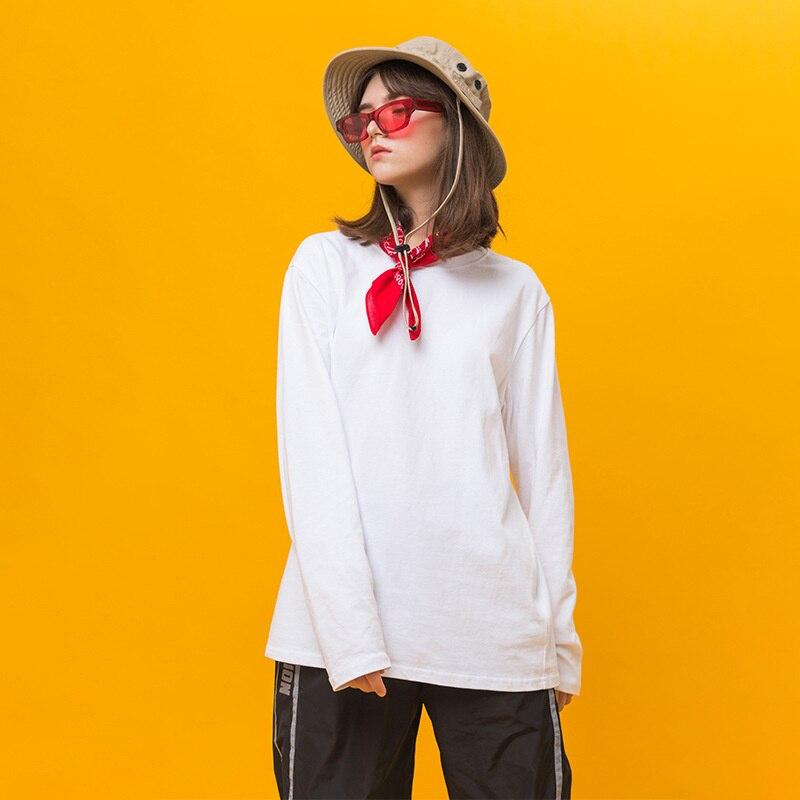 Japonais Harajuku Coton Sweat-Shirt à col rond pour Femmes Fille Urbaine Streetwear pullover décontracté Sweats Oversize