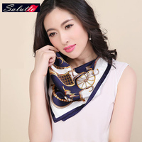 SALUTTO Brand Clothing 100% Silk Square Scarf Foulard Women Luxury From India Echarpes Foulards Femme Braga Cuello