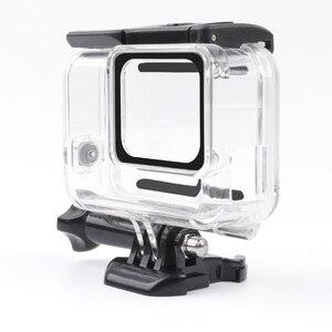 Image 5 - שלד מגן שיכון מקרה צד פתיחת ואחורי עם חור עם עדשת זכוכית עבור GoPro גיבור 7 לבן כסף אבזרים