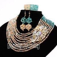 Fabulous כלה ניגרית ערכות תכשיטים אפריקאים תלבושות כלה חרוזים תכשיטי חרוזים אפריקאים סט להגדיר משלוח חינם סט 6