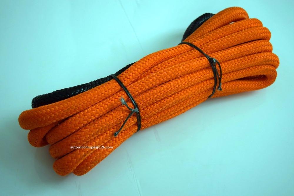"""""""Оранжевый 3/4""""""""*кинетической 30 футов веревки восстановления энергии веревка,синтетический трос лебедки,двойной плетеный нейлоновый Канат"""""""