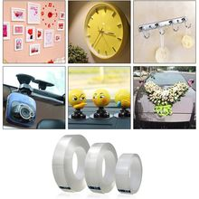 Reusable Transparent Double-sided Tape Can Washed Acrylic Fixing  tape No Trace Magic Car