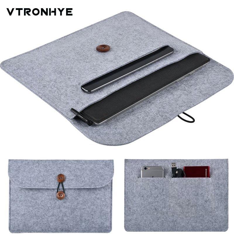 купить Slim Wool Felt 11 13 14 15.6 17.3 inch Sleeve Bag for Macbook Pro Retina Air For HP Dell Acer Lenovo Notebook Case Men Women недорого