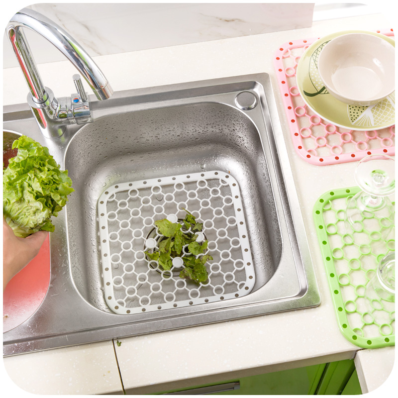 Creative kitchen sink debris filter mat, increase chassis cups dried Drain  pan and insulation pads