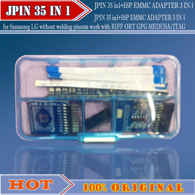 JPIN 35 in1+ISP EMMC ADAPTER 3 IN 1 for Samsumg LG without welding pinouts  work with RIFF ORT GPG MEDUSA/JTAG-in Telecom Parts from Phones &