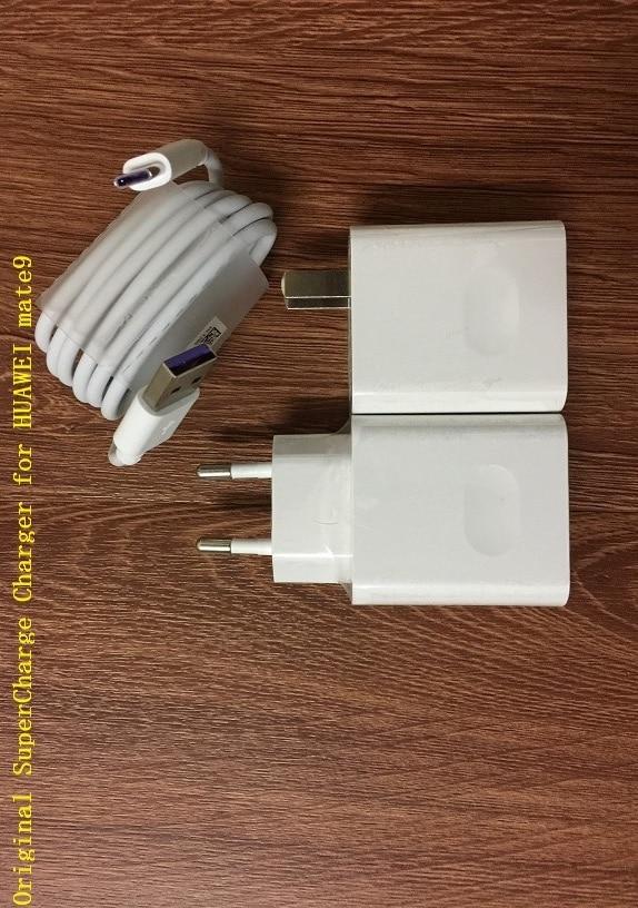 imágenes para Original huawei ee.uu. ue 5 v 2a/4.5 v 5a/5 v 4.5a cargador rápido de sobrealimentación adaptador + 1 m 5a tipo de cable para huawei mate9 pro p10 plus