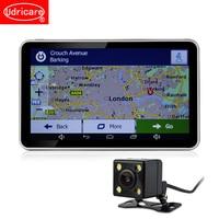 Udricare 7 inch GPS Android WiFi Bluetooth GPS Navigation DVR 16GB Quad core Dual Lens Rear View Back Camera DVR Video Recorder