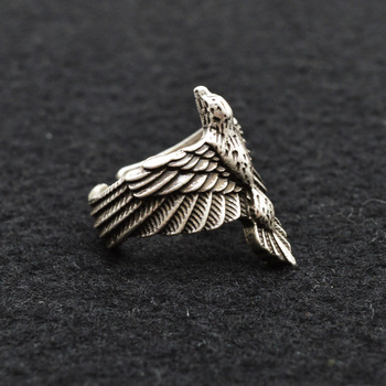 Bague viking homme corbeau