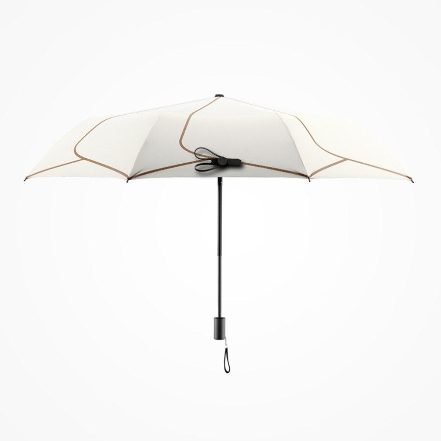 Pumpkin Harvest Lightweight Multicolor Manual Tri-Fold Sun Rain Umbrella Protection Shade