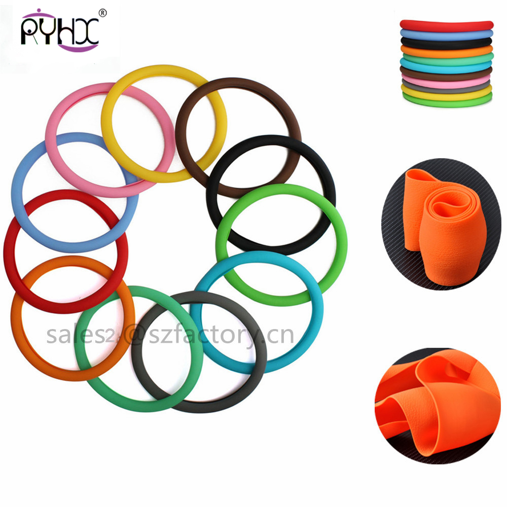 Car Silicone Steering Wheel Glove Cover 33-40 cm Soft Auto skin Texture Steering Covers Automobile Accessories Universal