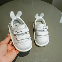 LANSHITINA Genuine Leather Shoes First Walkers Baby Newborn Boys Girls Soft 0 24Months Carton Rabbit Shoes Skid Proof TX004