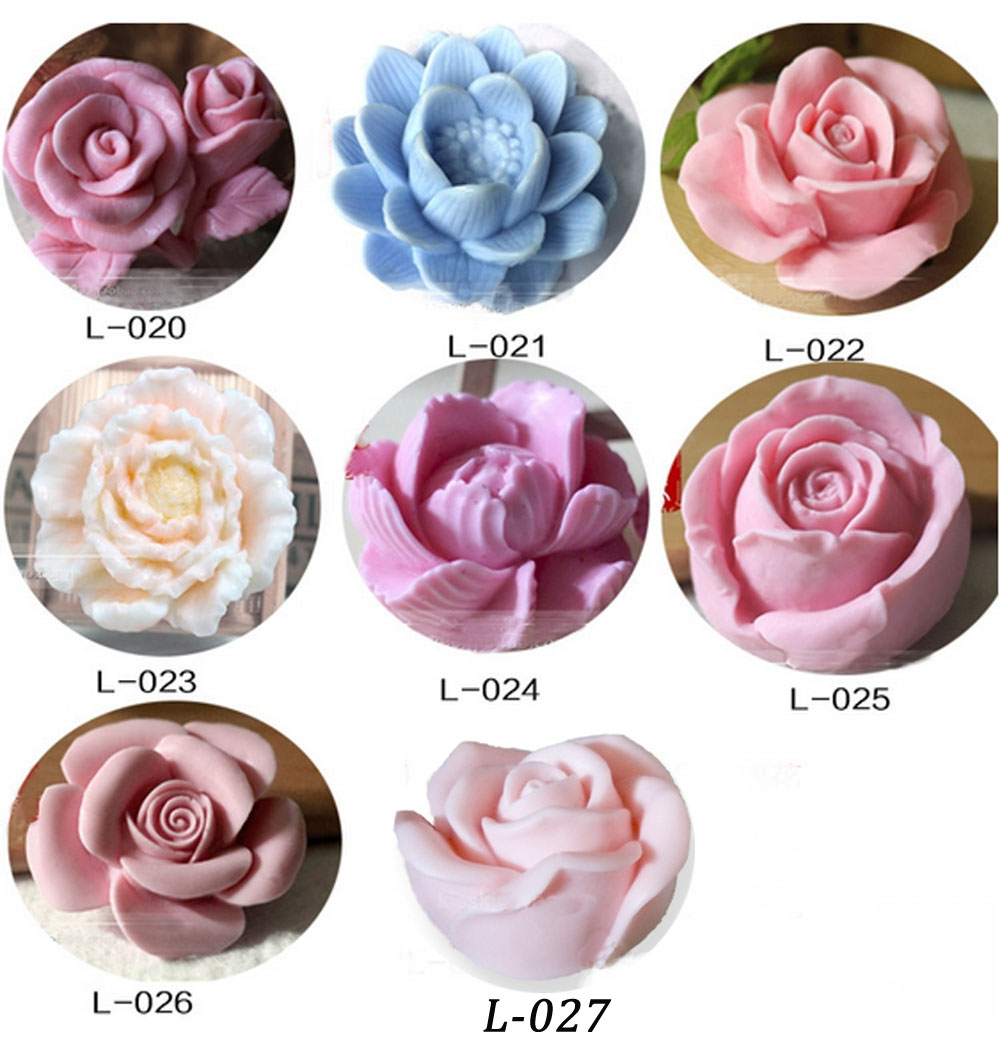 3d flower silicone molds for soap candle mold clay mould