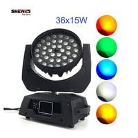 Americano Dj 36x15 W LED Zoom Moving Head Luz 36x15 w rgbwa 5in1 dmx stage lavagem luz moving heads