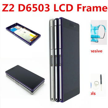 100% AAA pantalla LCD para Sony Xperia Z2 D6502 D6503 D6543 L50W D6502D asamblea de pantalla táctil digitalizador marco con libre herramientas