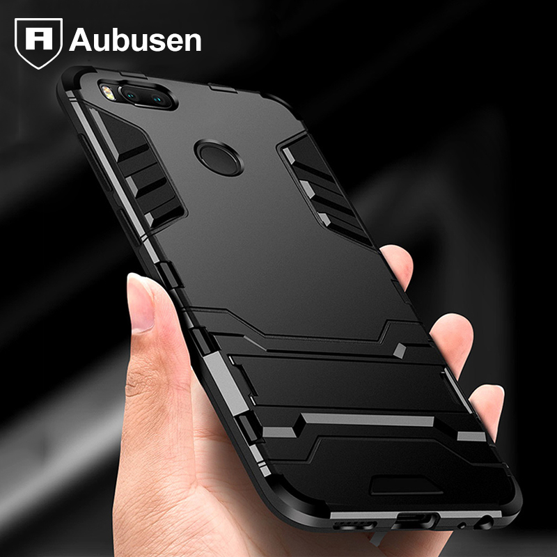 For xiaomi mi A1 5x case Aubusen Hybrid Shockproof Hard Iron Man Armor Defender Silicone Cover Case for xiaomi mi a1 mi5 mi6