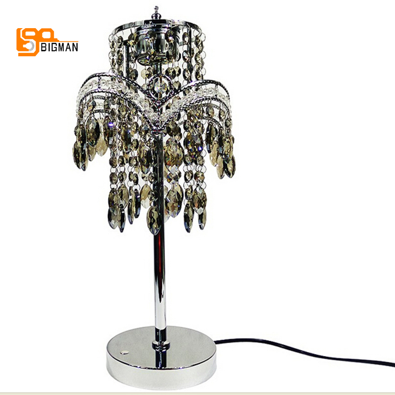luxury design crystal table lamp dimmable desk lamp modern table lamps for bedroom living room light minimalist warm bedroom beside k9 crystal table lamps luxury living room study desk lamps modern clear gray crystal table lamp