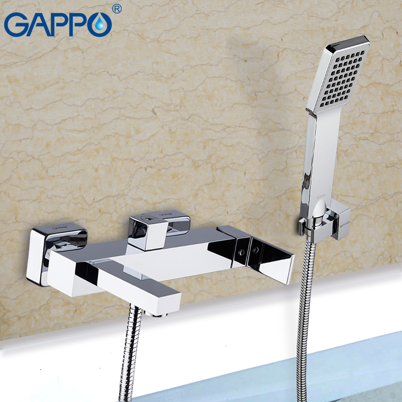 GAPPO Bathtub Faucets Brass Bath Faucet Waterfall Faucet Bathtub Taps Deck Mounted Bath Tub Mixer