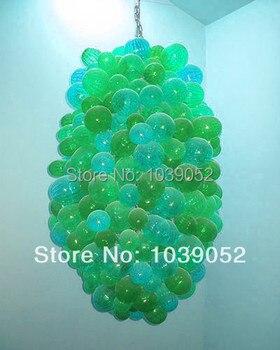 Gorąca sprzedaż nowy projekt kształt bańki kolorowy nowoczesny szklany żyrandol