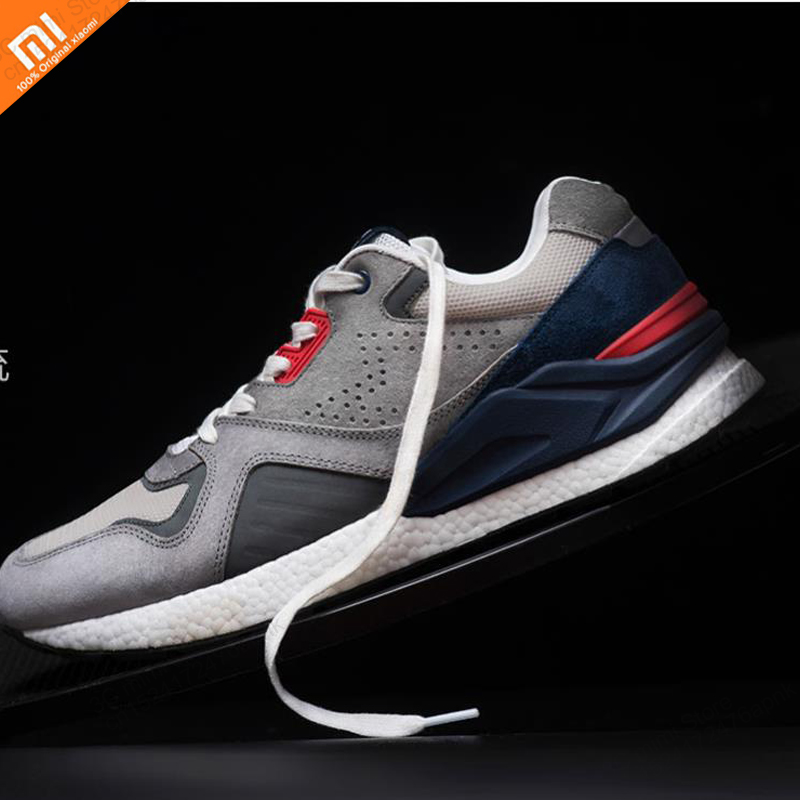 Xiaomi mijia retro running shoes high elastic cushioning mesh stitching vamp TPU balance 3M reflective men