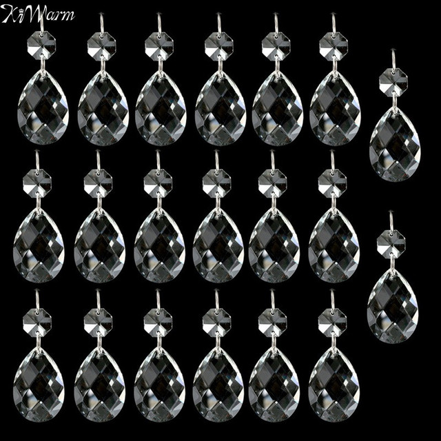 Kiwarm modern 20pcs clear chandelier crystal lamp parts glass beads kiwarm modern 20pcs clear chandelier crystal lamp parts glass beads prisms hanging pendant drop home decoration aloadofball Choice Image