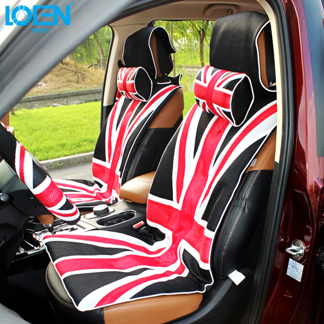 LOEN Car Seat Cover 48CM*138CM Universal UK flag Mesh Cloth car seat