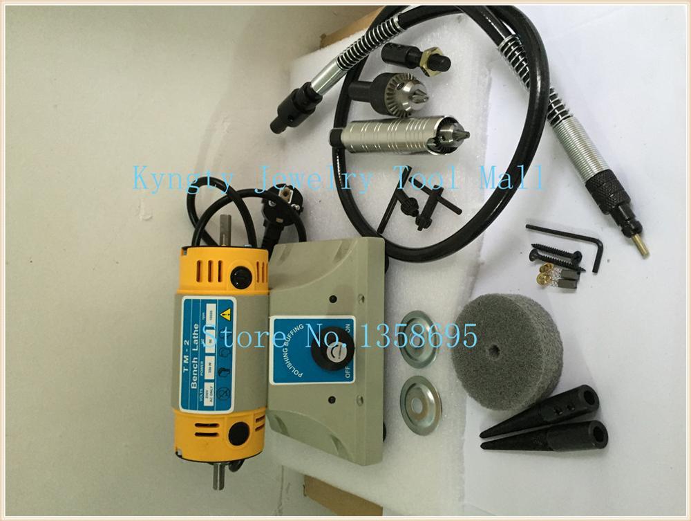 цена TM-2 Benchs Lathe Polisher Took Kit benchdrill multi use Jewelry Jade Polishing Machine