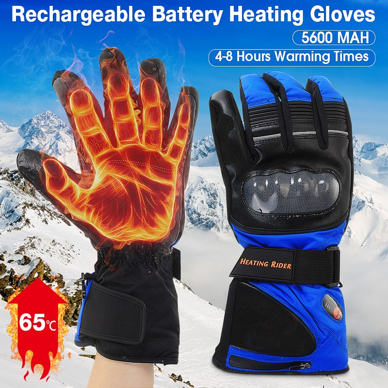 все цены на Electric battery Heated Gloves Temperature Control Warm Gloves Winter outdoor Sports Motorcycle Bicycle Waterproof Skiing Gloves онлайн