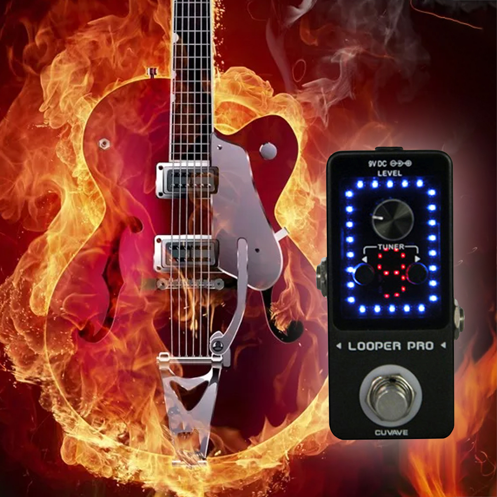 Outil de mode d'enregistrement Mini pédale Tuning simple bloc Led effecteur de guitare affichage Interface USB conviviale monolithique