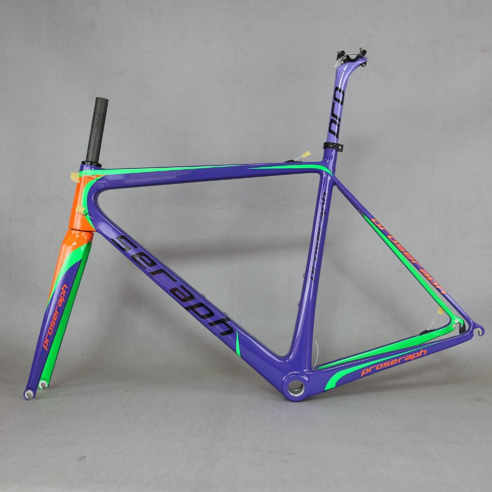 US $522 0 10% OFF SERAPH custom paint bike carbon road frame Carbon Fiber  bicycle Frame,T1000 Bicycle Carbon Frame FM686 new EPS technology-in  Bicycle