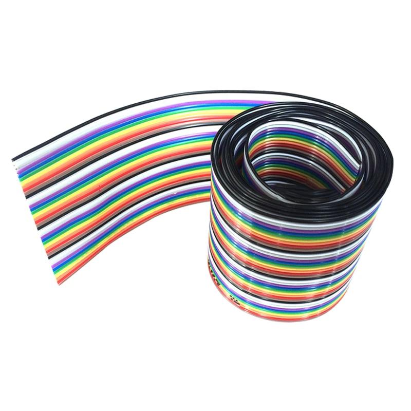 5 м ленточный кабель 40 Способ Плоский Цвет шлейф в цветах радуги провод Радужный кабель 40 P ленточный кабель 1,27 мм шаг