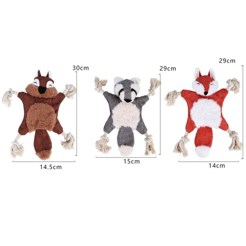 1 قطعة الثعلب السنجاب الدب صرير لعبة للكلاب جرو أفخم الأرنب الماوس القرد بطة التمساح السبر كلب اللعب