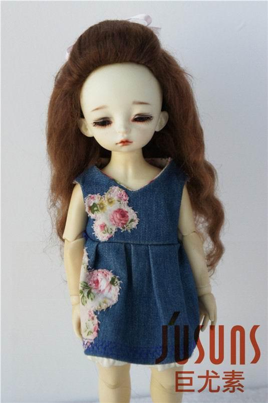 JD327 1/6 мягкий парик для куклы мохеровый прекрасный вверх курчавый BJD кукла волосы Размер 6-7 дюймов модные куклы аксессуары - Цвет: Light Brown M11