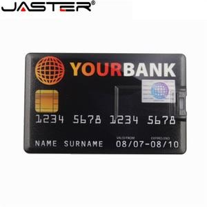 Image 5 - JASTER 신용 카드 USB 플래시 드라이브 4 기가 바이트 8 기가 바이트 16 기가 바이트 32 기가 바이트 64 기가 바이트 금속 USB 2.0 메모리 스틱 펜 드라이브 무료 사용자 정의 로고 레이저 인쇄