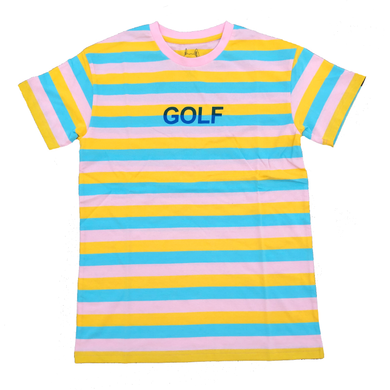 New 2019 Striped Golf Le Fleur Tyler The Creator T Shirts T-Shirt Hip Hop Skateboard Street Cotton T-Shirts Tee Top #AB50