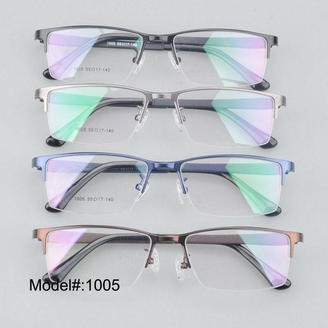 Avistamiento men'sfar MX1005 Medio borde de metal marcos ópticos con templos ultem moda eyeware glassese