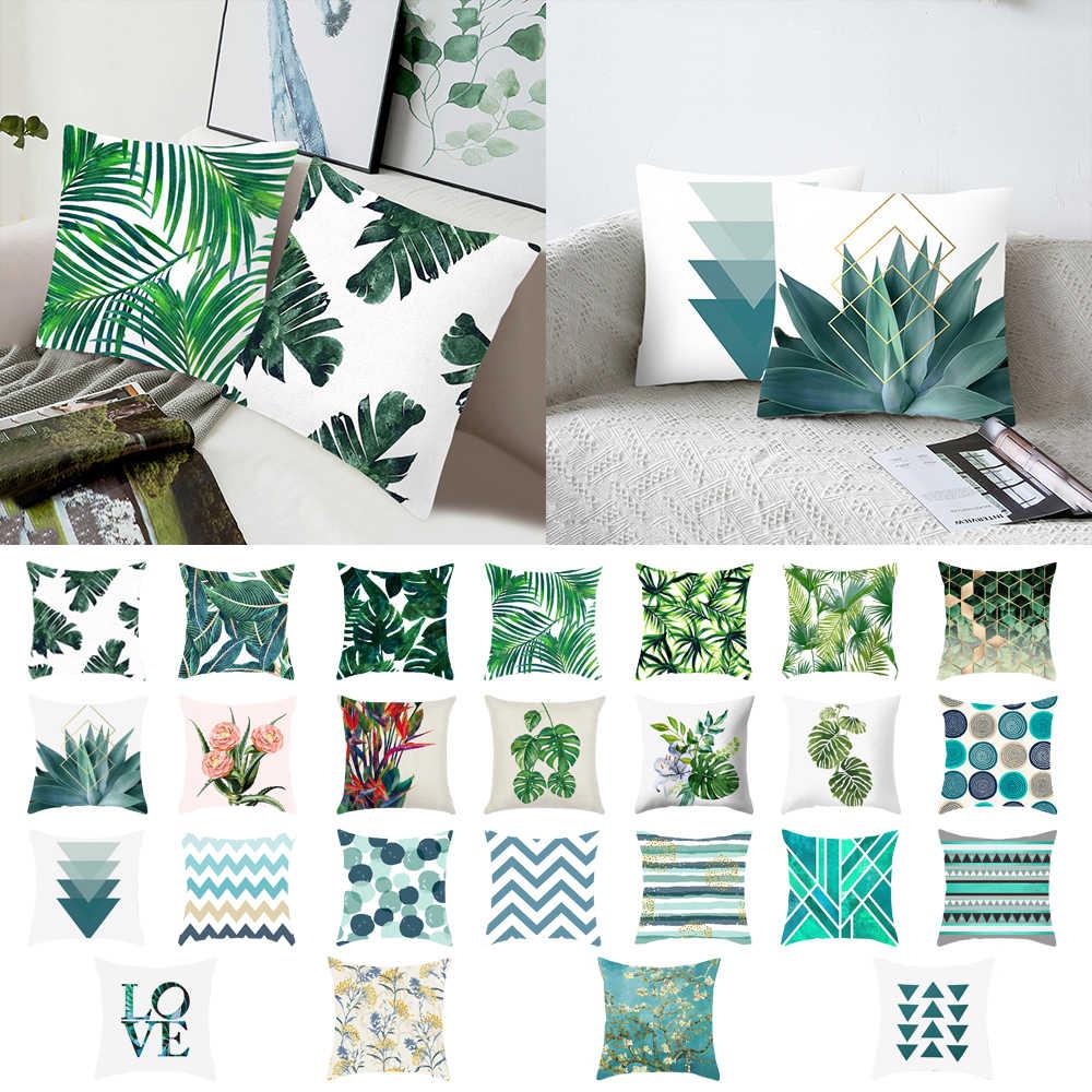 Regenwald Tropisch Pflanze Blätter Kissenbezug Kissenhülle Bezug Sofa Dekokissen