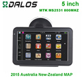 New 5 inch Car GPS navigation with MTK 800MHZ + WinCE 6.0+ FM Transmitter+ MP3 for Australia and New_Zealand