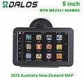 Novo 5 polegada de navegação GPS do carro com MTK 800 MHZ + WinCE 6.0 + transmissor FM + MP3 para a austrália e New_Zealand