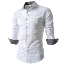 2017 New Plaid Shirt Men Fashion Long Sleeve Mens Dress Shirts Slim Fit Casual Camisas Masculinas