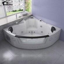 1350mm Whirlpool Bathtub AIR Massage Acrylic 2 Person Hot Tub Wall Corner  GlassTriangular Hydro Massage Tub Shower Spa 6148M