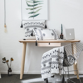 Geometric Soft Cotton Blanket and Pillowcase Bedroom Blankets Departments Living Room Outdoor Pillowcases Rooms