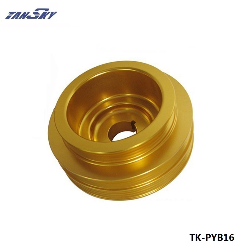 Crank Underdrive Engine Pulley Gold For <font><b>HONDA</b></font> <font><b>CIVIC</b></font> 92-00 B16 Z0132 <font><b>B16A</b></font> B18C LIGHT WEIGHT TK-PYB16 image