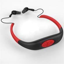 FM Радио Стерео Водонепроницаемый Спортивный MP3 музыкальный плеер наушники подводный шейный плавательный дайвинг с гарнитурой 4 Гб встроенной памяти