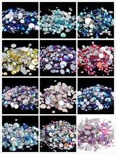 All Sizes AB Colors ss3-ss30 Flat Back Nail Art Non Hotfix Rhinestones 3D Flatbacks Decoration Jewelry Crystals