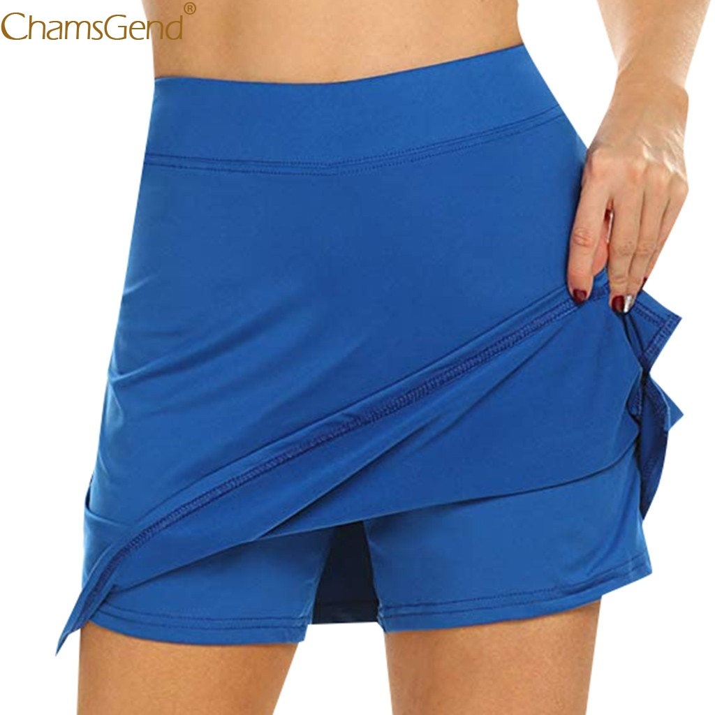 Performance Active Skorts Skirt skirts womens plus size pencil skirts womens Running Tennis Golf Workout Sports Natural Mar(China)
