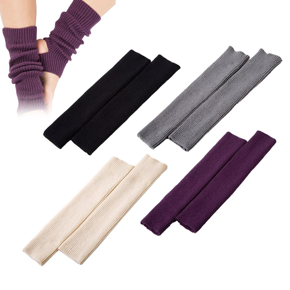 Woman Girls Pro Gym Fitness Yoga Socks Leg Warmers Female Calf Knitted Boot Cover For Dance Pilates Ballet Fashion Socks